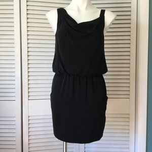 Theory Black Silk Jaylyn Dress Sleeveless Short
